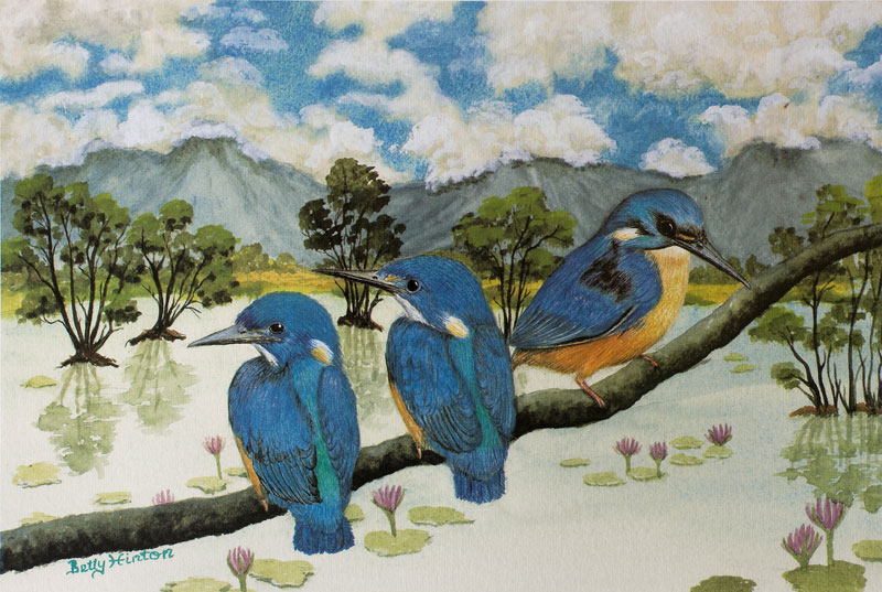 Azure Kingfishers by Betty Hinton